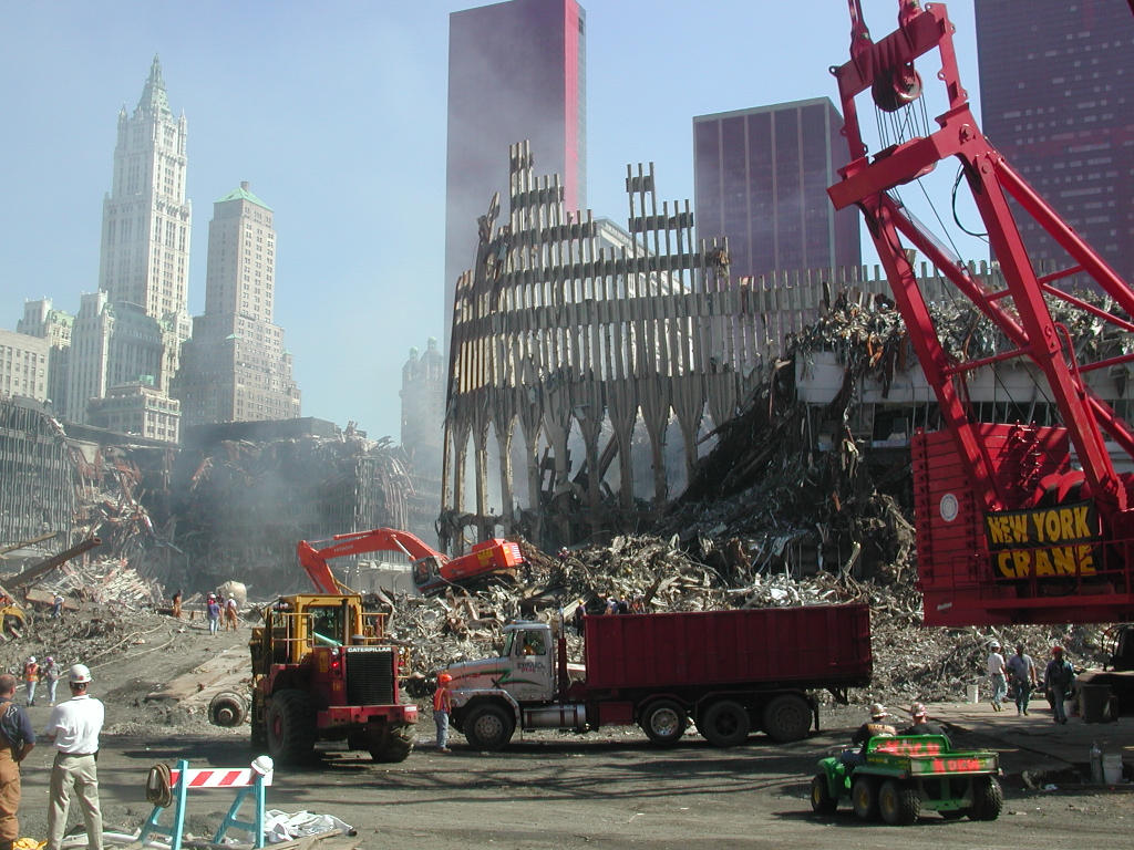 World Trade Center Building Remains