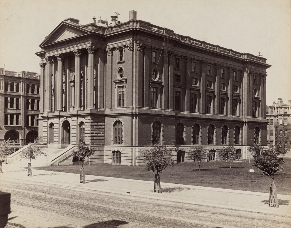 MIT's first building was in Boston, before the move to Cambridge in 1916.