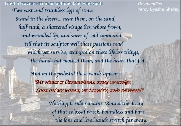 "literary essay on ozymandias Ozymandias samples - authorstream the influence of romanticism on literature through the poem's imagery and word choice ""ozymandias"" demonstrates the."
