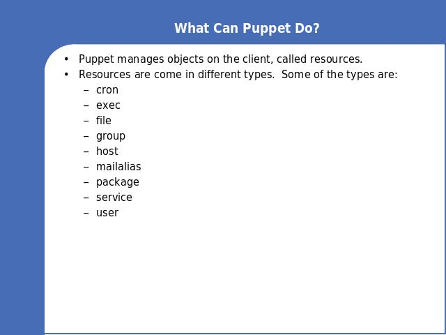 What Can Puppet Do?