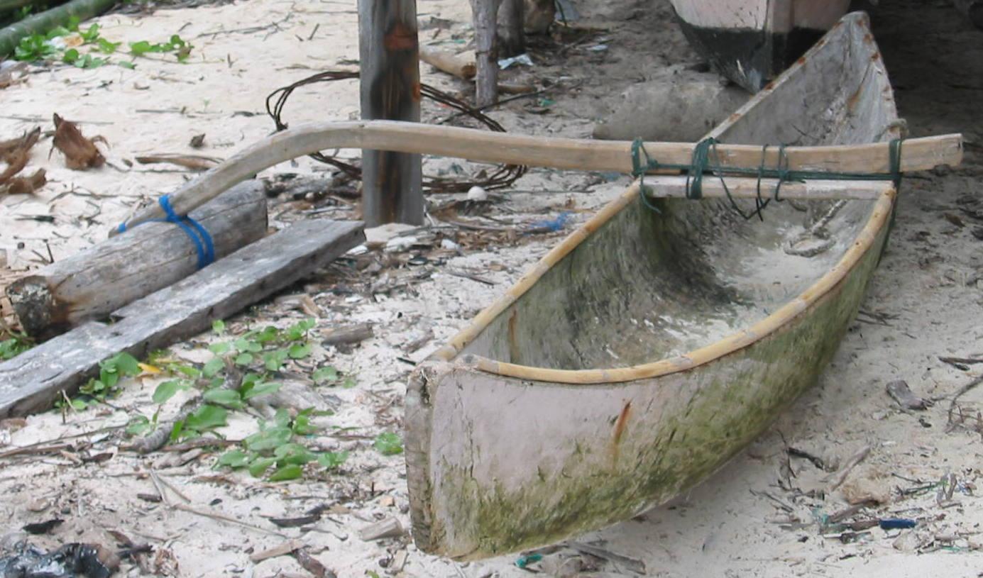 Sulawesi outrigger sailing canoe