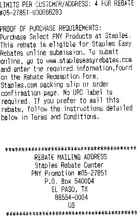 staples easy rebates horror story