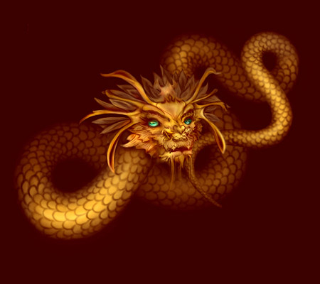 Chinese-style dragon head
