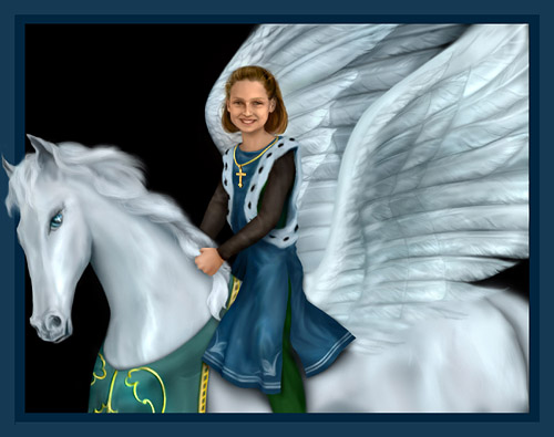 Paige on a pegasus