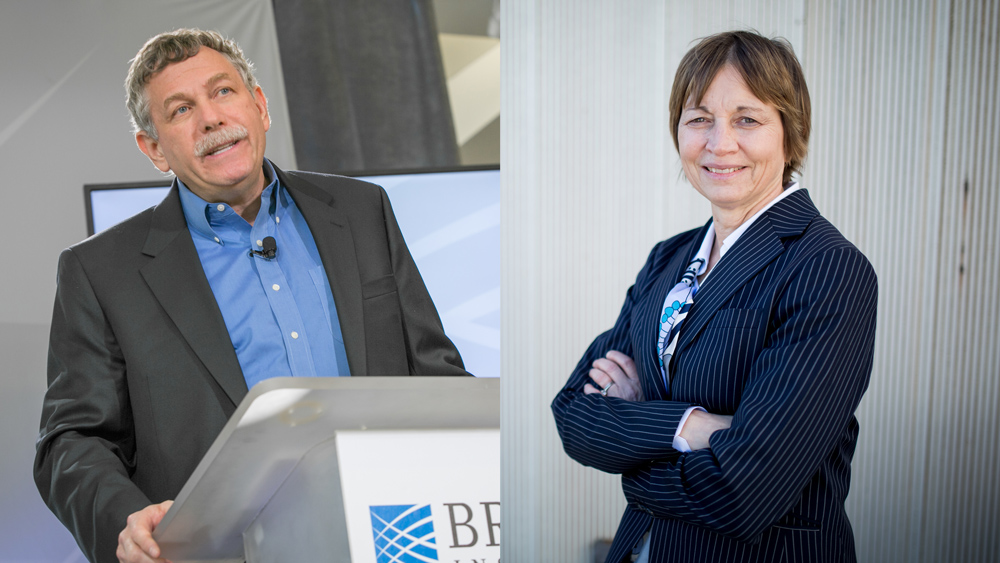 Broad Institute Director Eric Lander and Vice President for Research Maria Zuber